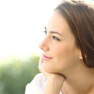 lady smiling and facing forward