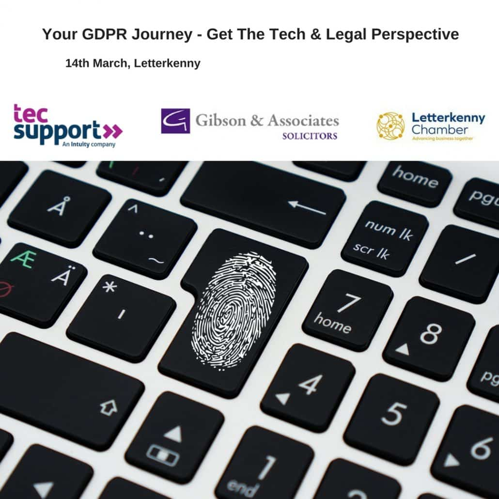Your GDPR Journey – Event, 14th March, Mount Errigal Hotel – Gibson & Associates Solicitors