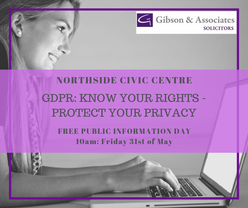 GDPR: Know Your Rights – Protect Your Privacy – Public Information Day