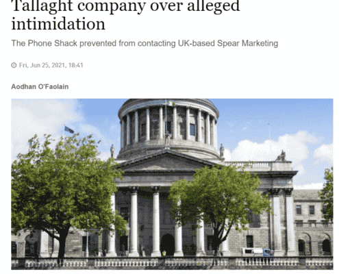 Consultancy gets injunctions against Tallaght company over alleged intimidation